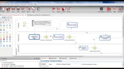 Implementación de proceso ficticio de gestión de Vacaciones en Bonita Open Solution (BPM)