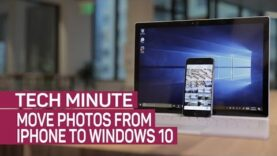Move photos from iPhone to Windows 10 (Ingles).