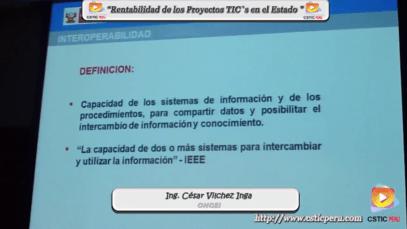 Rentabilidad de los Proyectos TIC`s en el Estado – ONGEI