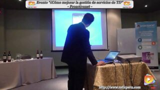 """Evento """"Como mejorar la Gestión de servicios de TI""""."""