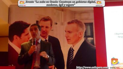 """Evento """"La nube en Oracle, para la construcción de un gobierno digital, moderno, ágil y seguro""""."""