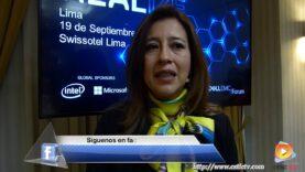 Entrevista: Marcela Perilla Ejecutiva de Dell EMC, sobre el DELLEMC Forum Lima Perú.