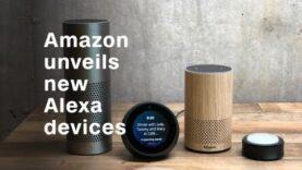 Amazon presenta nuevos dispositivos Alexa (Ingles).