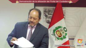 Demostración del uso del Portal del Ciudadano – RENIEC.