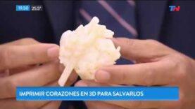 Corazones hechos con impresora 3D para salvar vidas en Argentina.