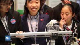 Inventos de estudiantes de secundaria chinos atraen en Feria de París.