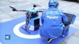 Drones entregarán alimentos a clientes en China.