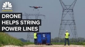 Estos drones hacen que las líneas de tendido de cables sean más seguras.