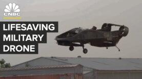 Este Drone puede transportar soldados heridos.