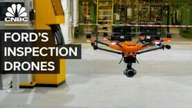 Ford utiliza aviones no tripulados para hacer fábricas más seguras.