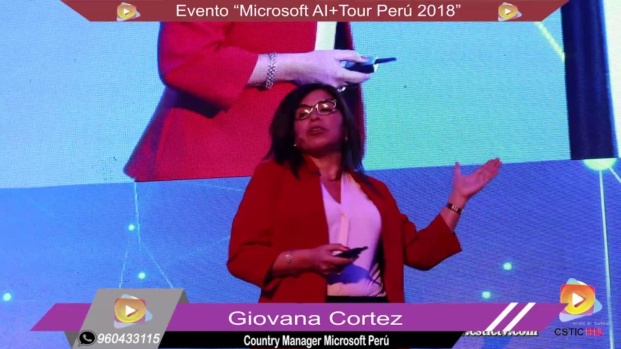 Evento: Microsoft AI+Tour Perú 2018 – Inteligencia Artificial.