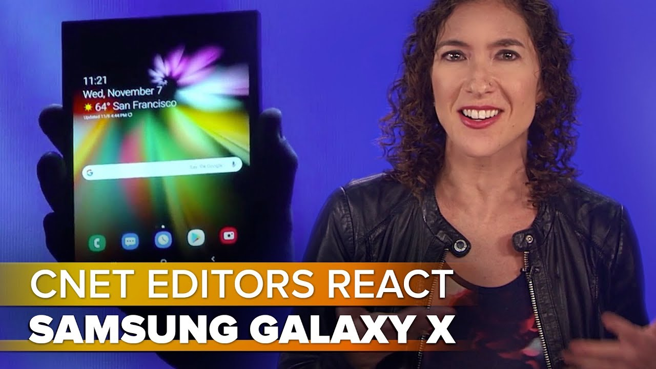 Samsung Galaxy X teléfono plegable.