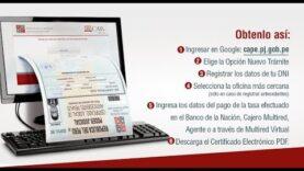 Cómo obtener tu Certificado de Antecedentes Penales (Perú) por Internet