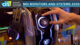 ¡Monitores y sistemas MSI para 2020! – CES 2020
