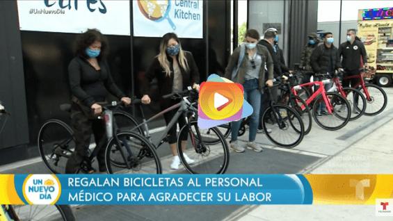Nueva York regala bicicletas a los héroes de salud