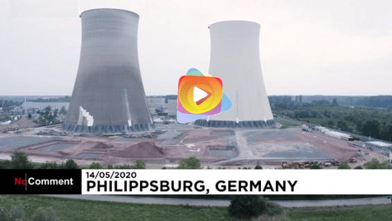 Con explosiones controladas acaban con las torres de la antigua central nuclear de Alemania