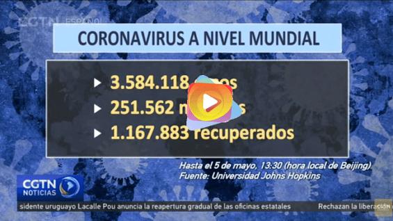 Casos confirmados de COVID-19 ha sobrepasado los 3,5 millones a nivel mundial