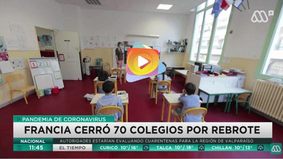 En Francia cierra 70 escuelas por rebrote de covid-19