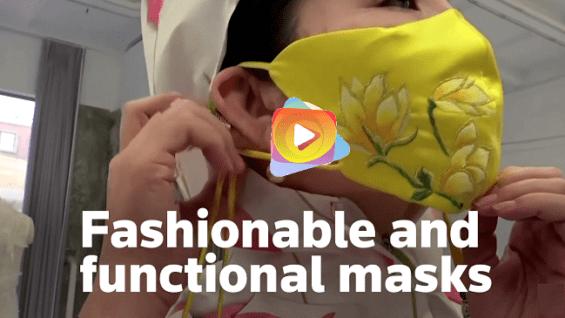 Diseñador china lanza mascarilla fashion contra Covid-19