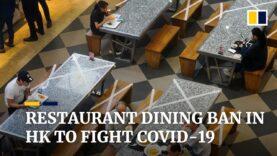 Hong Kong prohíbe todos los servicios de comida en restaurantes en un intento por contener la tercera ola de Covid-19