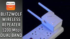 BlitzWolf BW-NET3 repetidor inalámbrico de banda dual 1200Mbps
