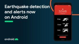 Detección y alertas de terremotos ahora en su teléfono Android