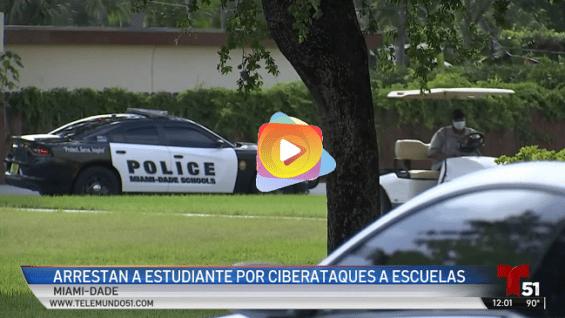 Arrestan a estudiante tras ciberataque a escuelas de Miami