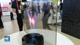 Presentan en feria CIFTIS el primer televisor transparente