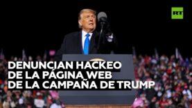 Denuncian un ciberataque en la página web de la campaña de Donald Trump