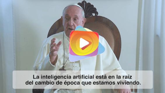 El papa reza para que el progreso de la robótica y de la inteligencia artificial esté siempre al servicio del ser humano