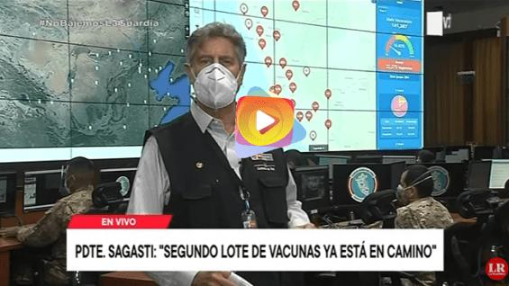 Perú: Sagasti confirma la llegada de las 700 mil vacunas sinopharm este fin de semana.