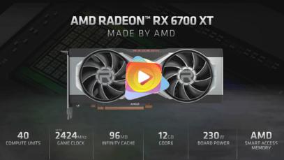 Todo lo que AMD reveló en su evento 6700 XT
