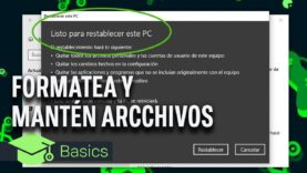 Formatea Windows sin perder ningún archivo