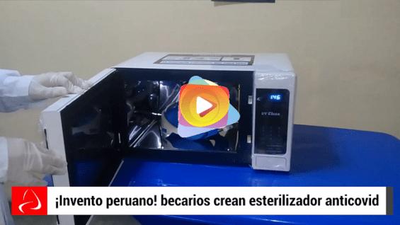 Becarios Peruanos crean esterilizador anticovid