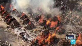 Las cremaciones masivas en India, reflejan el impacto de la pandemia de Covid-19