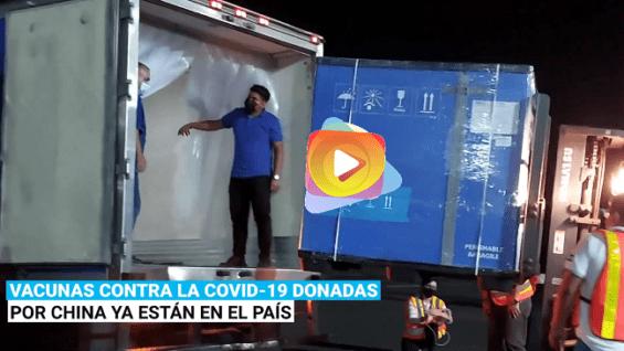 El Salvador recibe las vacunas contra la COVID-19 donadas por China