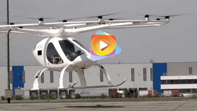 París: El Volocopter electrico multirotor, listo para el despeque