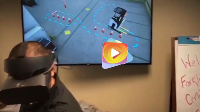 Capacitación montacargas con realidad virtual