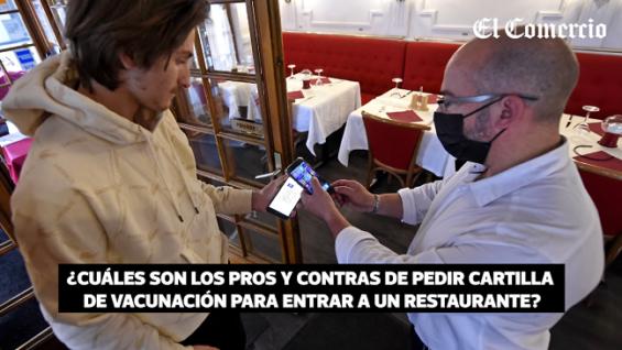 Propuesta de pedir certificado de vacunación para ingresar a locales publicos en Perú