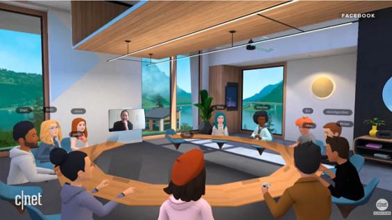 Salas de trabajo remoto en realidad virtual de Facebook con Oculus Quest 2