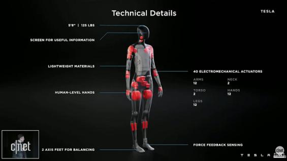 Tesla explica sobre un robot humanoide a futuro