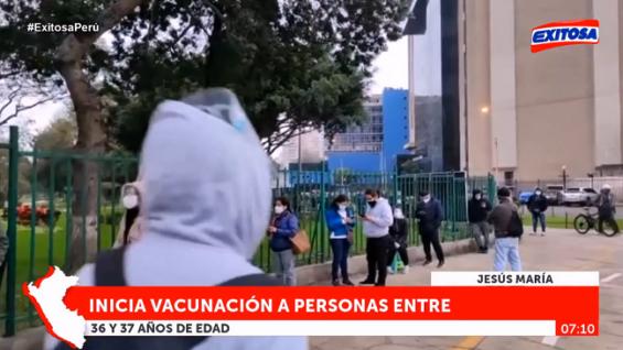 Perú: Hoy inicia vacunación a personas de 36 y 37 años en Lima y Callao