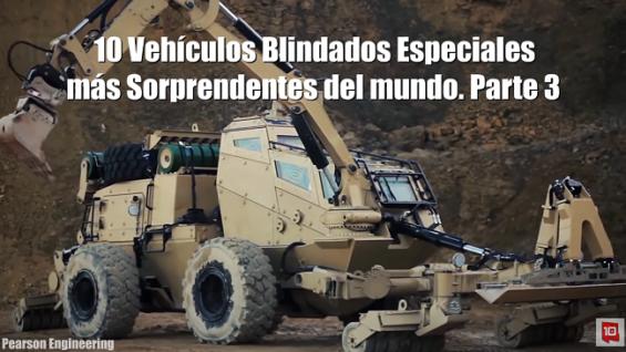 Vehículos Blindados Especiales más Sorprendentes del Mundo
