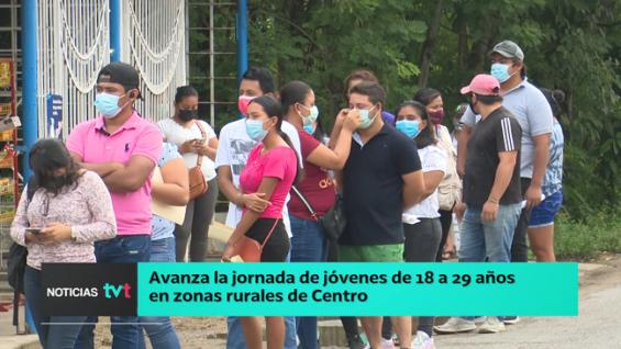 México: Continúa la vacunación contra COVID-19 a jóvenes en zonas rurales del municipio Centro