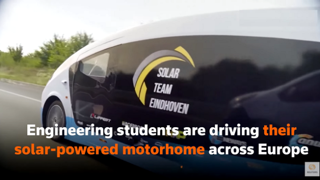 Estudiantes holandeses crean una autocaravana con energía solar